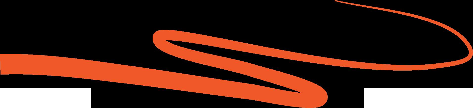 orange swash line decoration