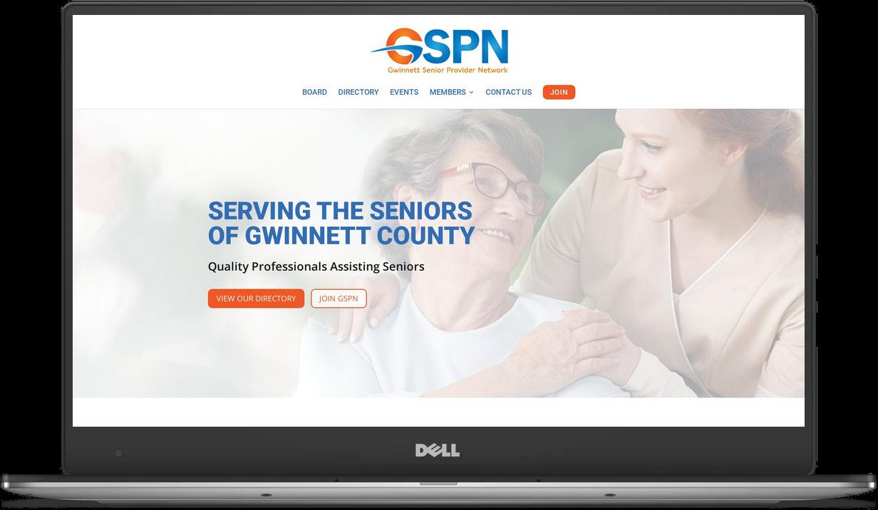 GSPN website on laptop computer